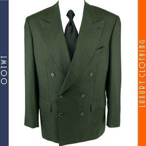 BRIONI 41R Aria Cashmere Silk Double Breasted Coat